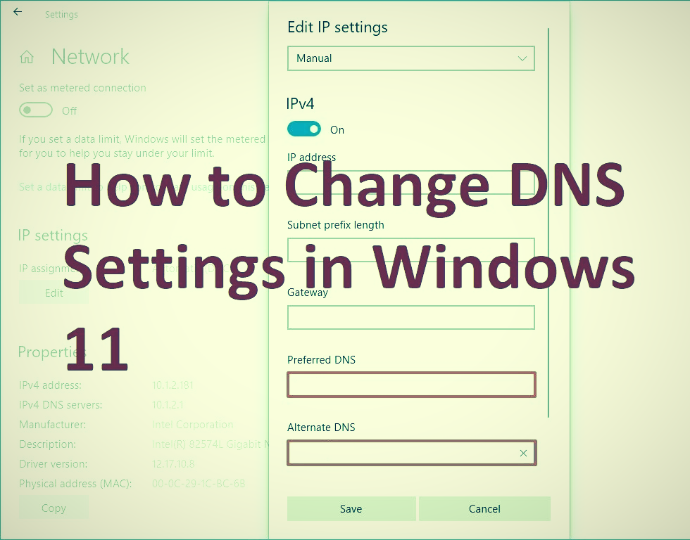 How to Change DNS Settings in Windows 11